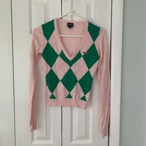 Le Tigre Pink argyle sweater in size small